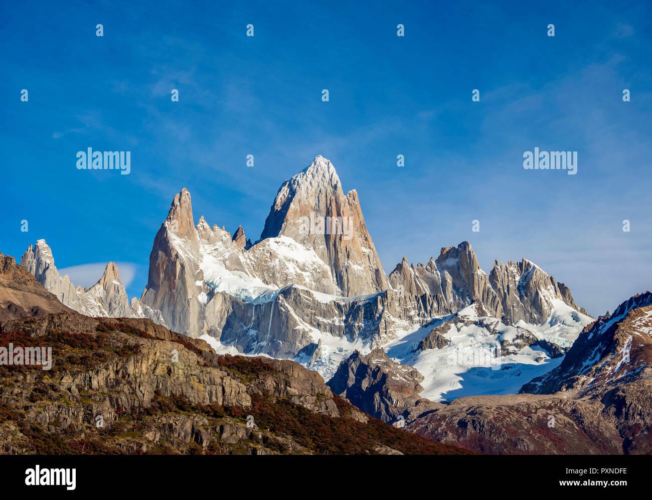 Mount Fitz Roy, Los Glaciares National Park, Santa Cruz Province, Patagonia, Argentina - Stock Image