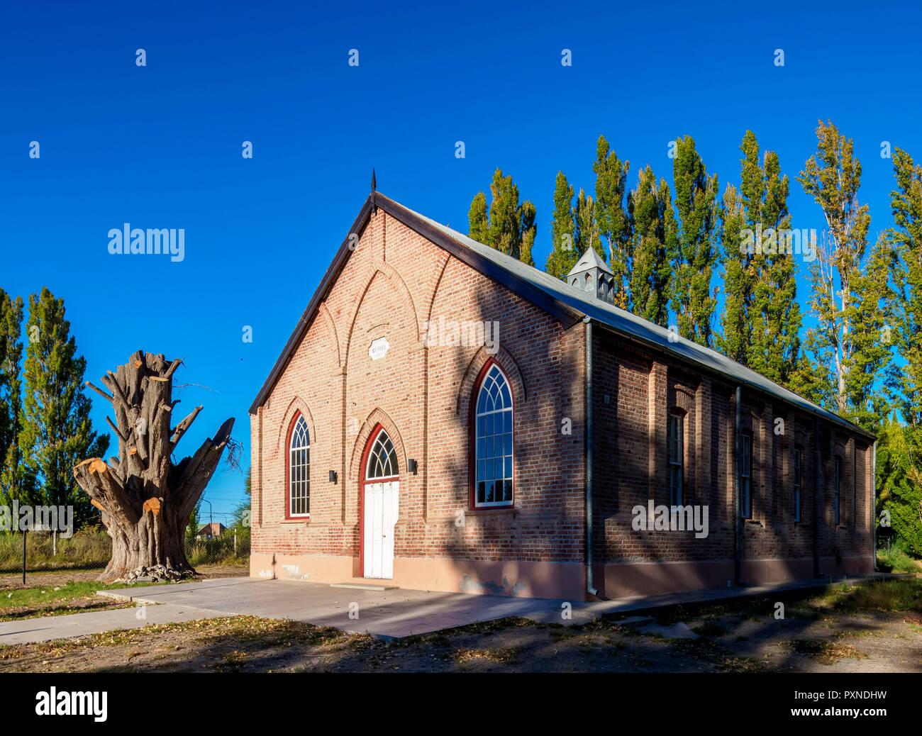New Bethel Chapel, Gaiman, The Welsh Settlement, Chubut Province, Patagonia, Argentina - Stock Image