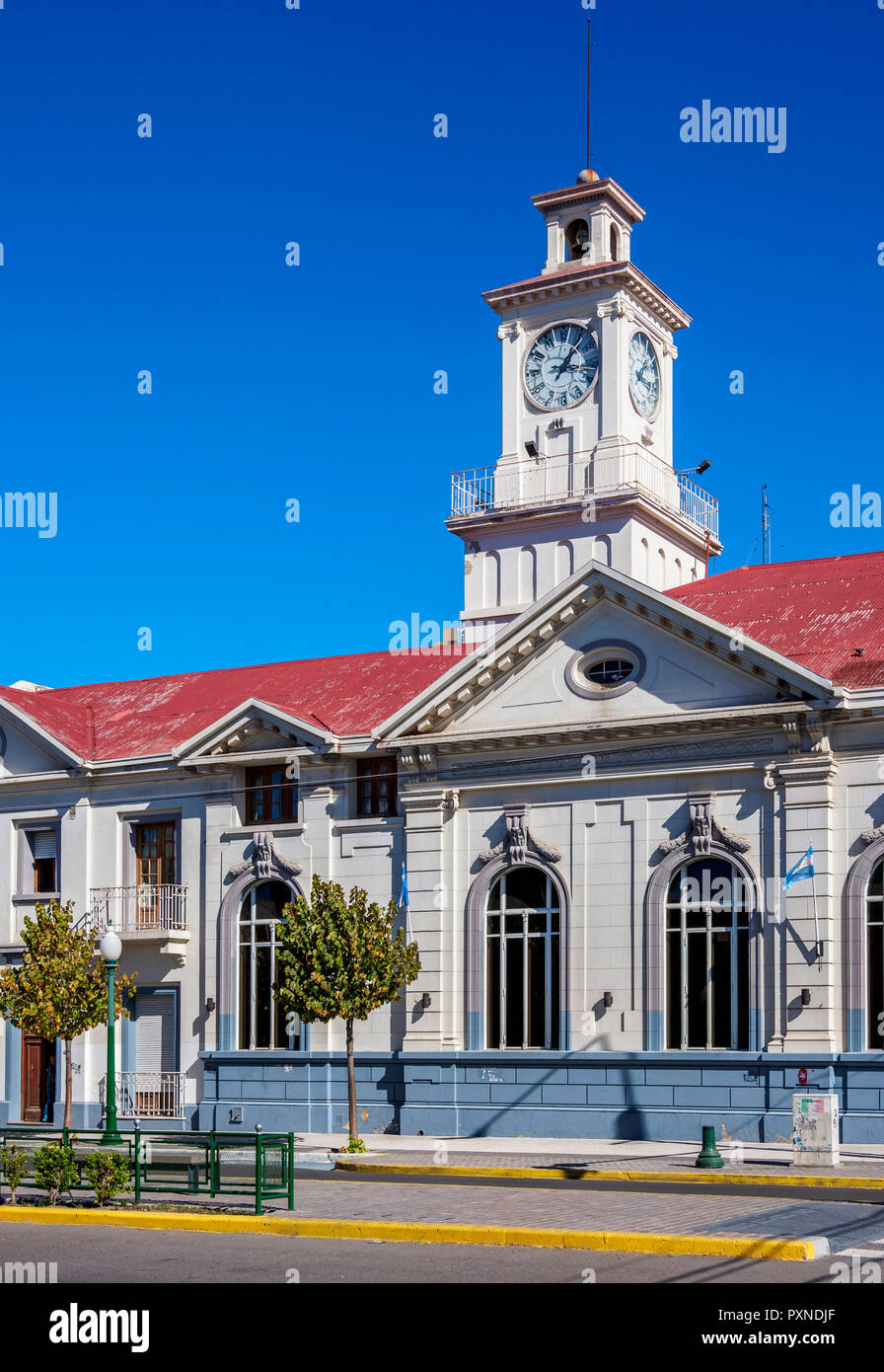 National Bank Building, Trelew, The Welsh Settlement, Chubut Province, Patagonia, Argentina - Stock Image