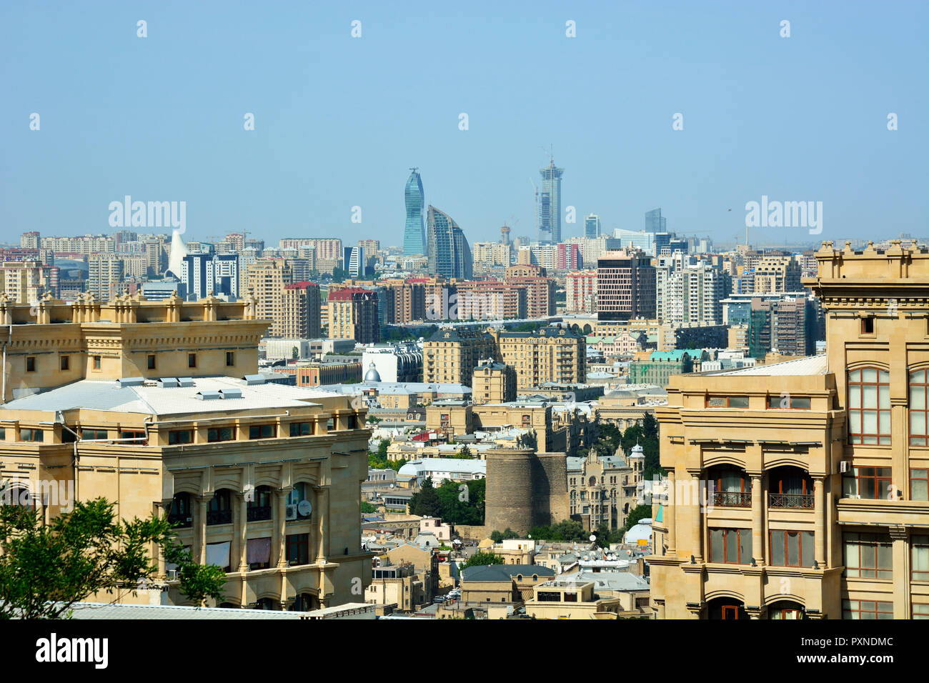 The city center of Baku, Azerbaijan - Stock Image