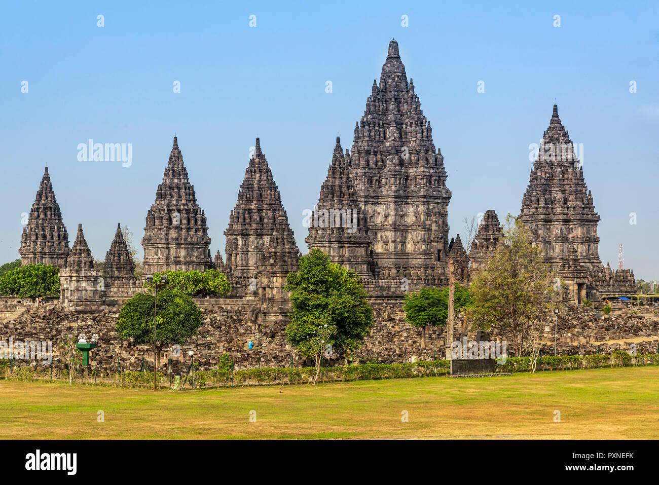 Prambanan temple complex, Yogyakarta, Java, Indonesia - Stock Image