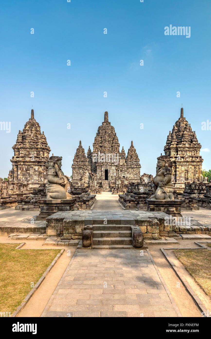 Candi Sewu, Prambanan temple complex, Yogyakarta, Java, Indonesia - Stock Image