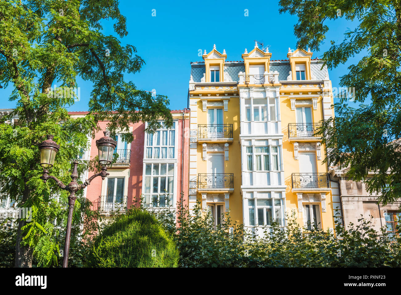 Spain, Castile and Leon, Burgos. Old town house. - Stock Image