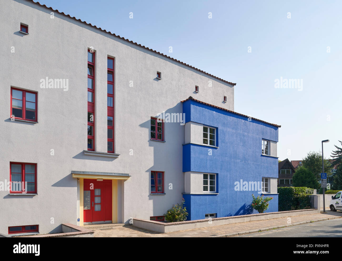 italienischer Garten, Celle, Bauhaus, Otto Haesler - Stock Image