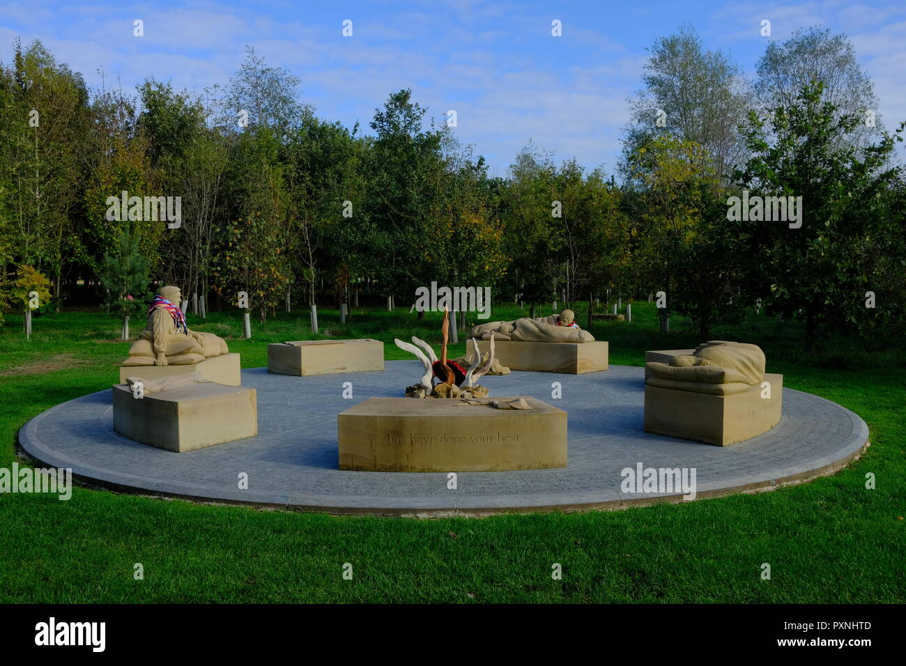 Scouting Association at the National Arboretum - Stock Image