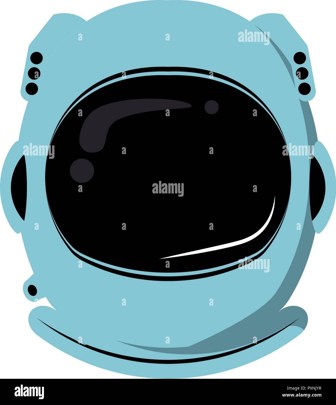 Astronaut helmet equipment - Stock Vector