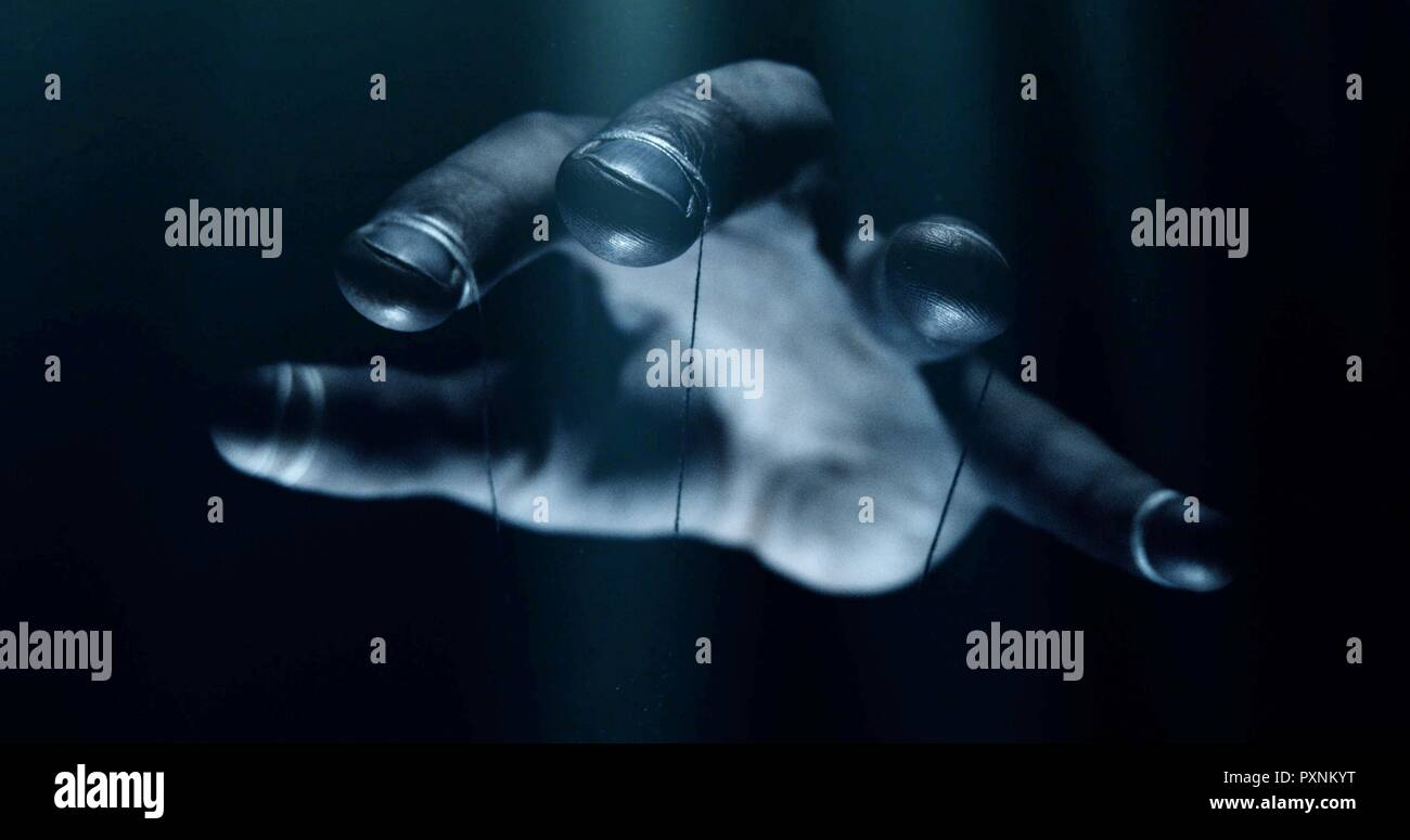 Puppet hands from leadership controlling our lives. Concept - Stock Image