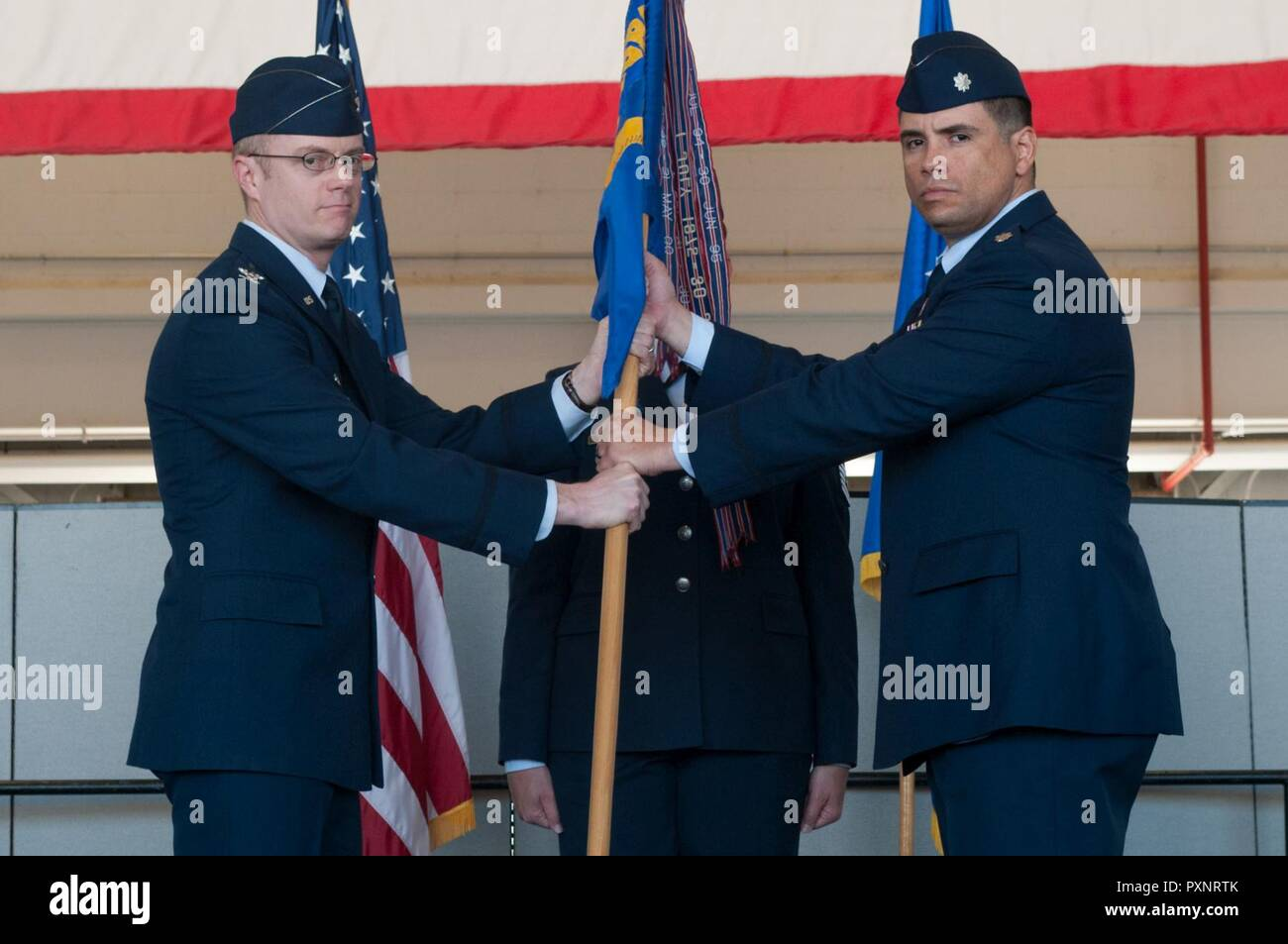 Jacob J Holmgren 548th Intelligence Surveillance And Reconnaissance Group Commander Passes The Guidon To Lt Col Luis Adames 9th