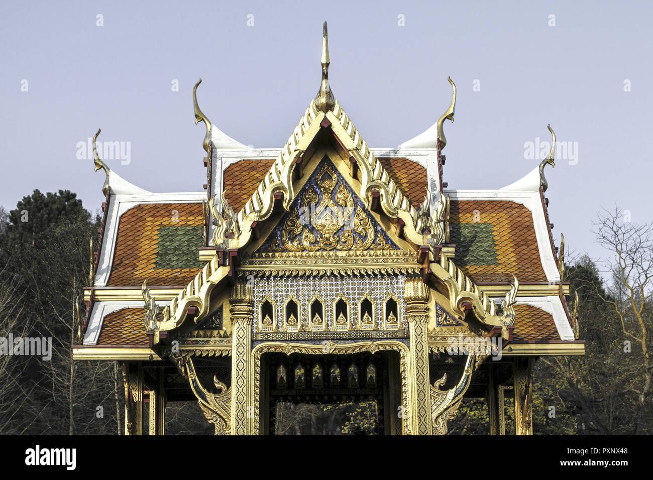 BRD, Germany, Bayern, Oberbayern, Muenchen, Thailaendischer Tempel im Westpark - Stock Image