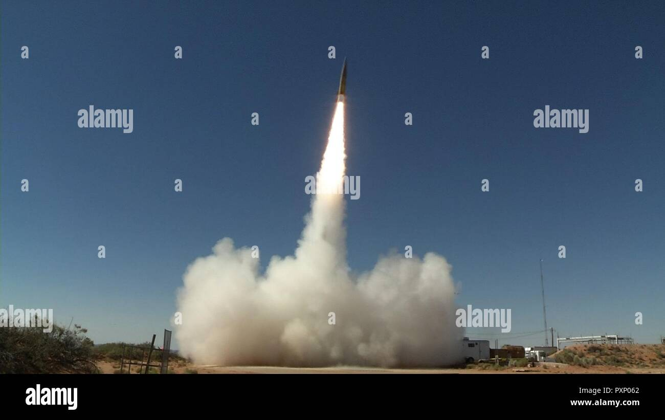 A Sabre short-range ballistic missile launches in June 2017 at White