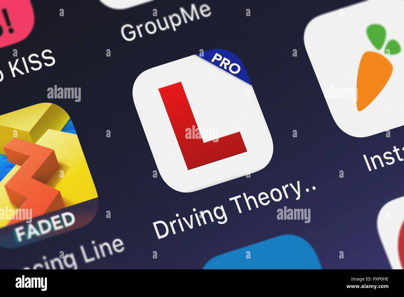 Driving Theory Test For Car Drivers Pro 2016 Uk Stock Photos