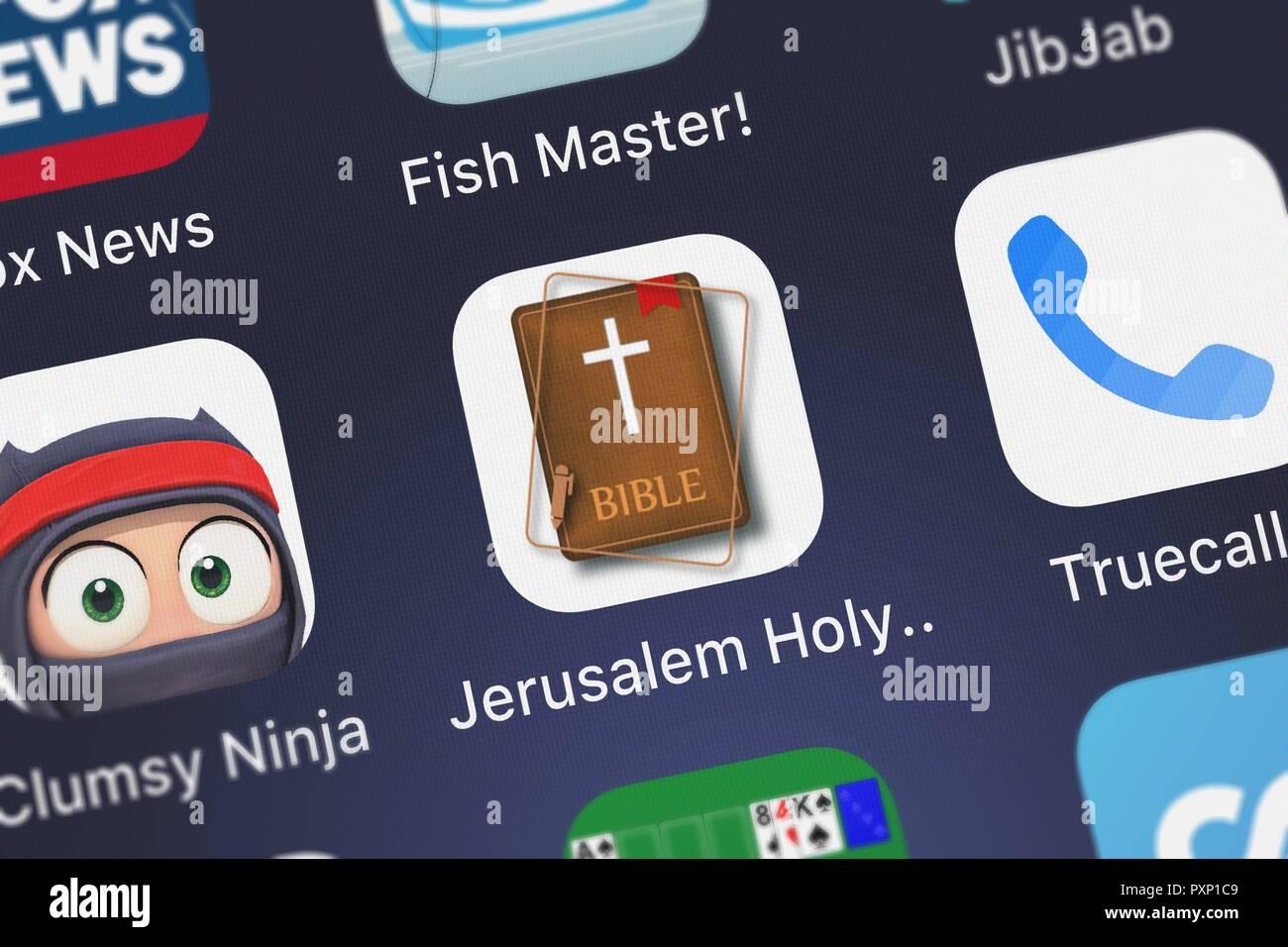 Jerusalem Holy Bible Roman Catholic Audio Bible Stock Photos