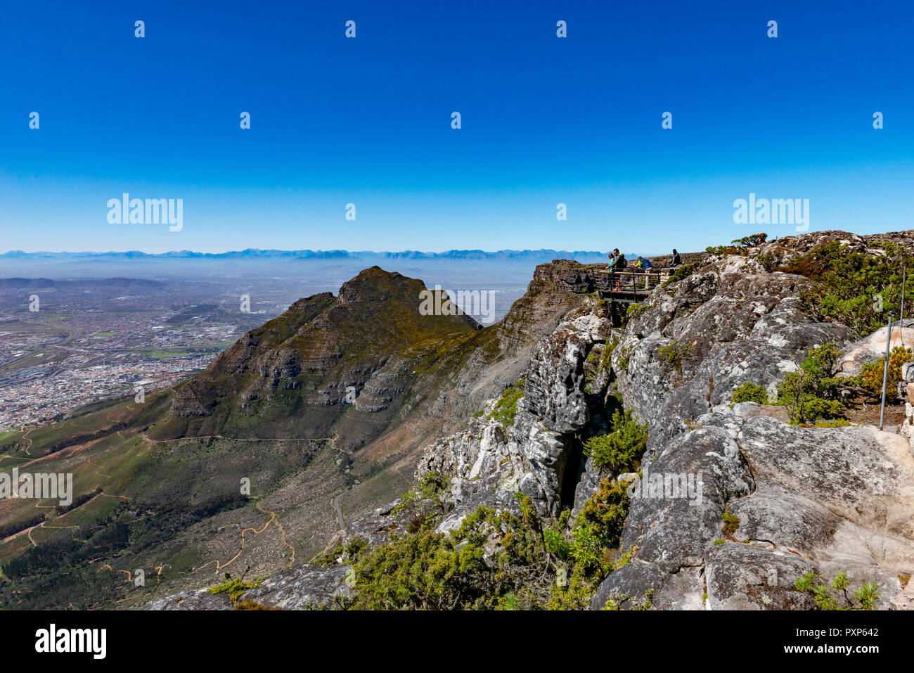 Devils Peak, Table Mountain, Cape Town, South Africa - Stock Image