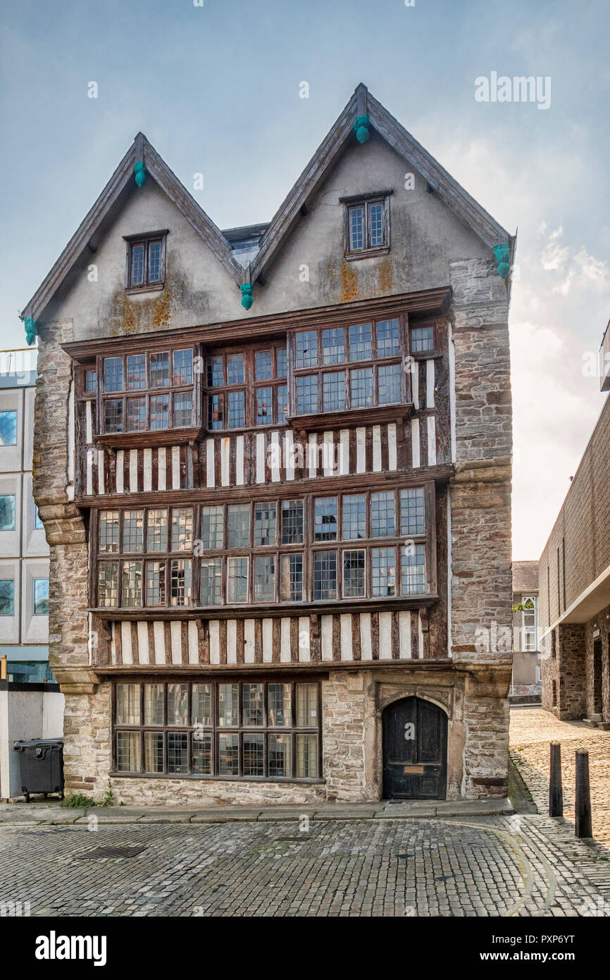 The Merchant's House is a 16th/17th Century house in Plymouth, Devon, England, UK. It is now a museum. - Stock Image