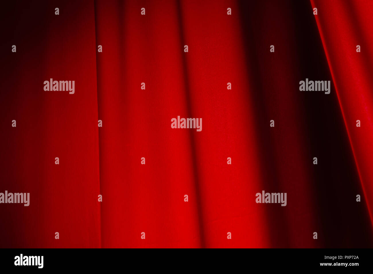 Red drape background. Flag. MayDay. - Stock Image