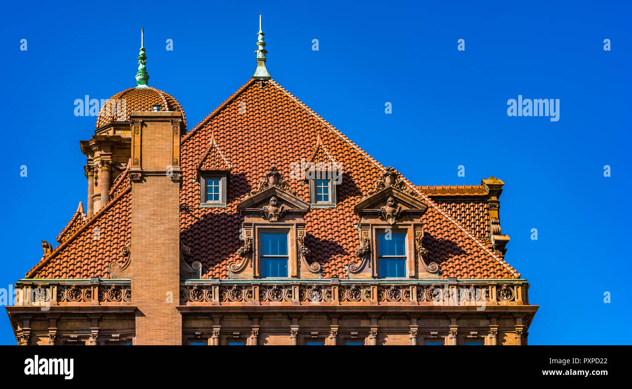 Rooftop at the Main Street Station in Richmond, VA - Stock Image