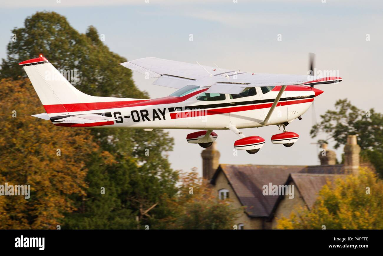 Reims Aviation Industries - Cessna F182Q Skylane (G-ORAY) - Stock Image