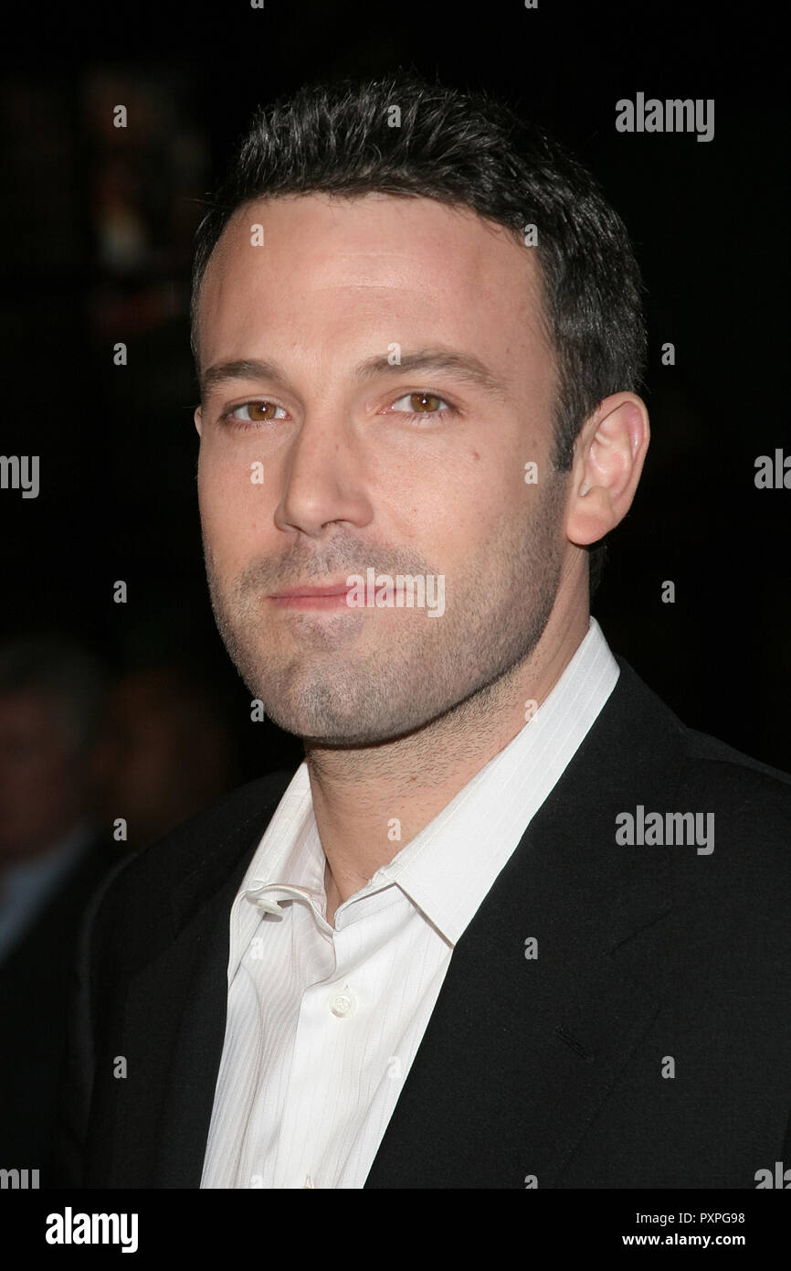 Ben Affleck  01/18/07 SMOKIN' ACES  @  Grauman's Chinese Theatre, Hollywood  photo by Jun Matusda/www.HNW / PictureLux (January 18, 2007)   File Reference # 33687_079HNWPLX - Stock Image