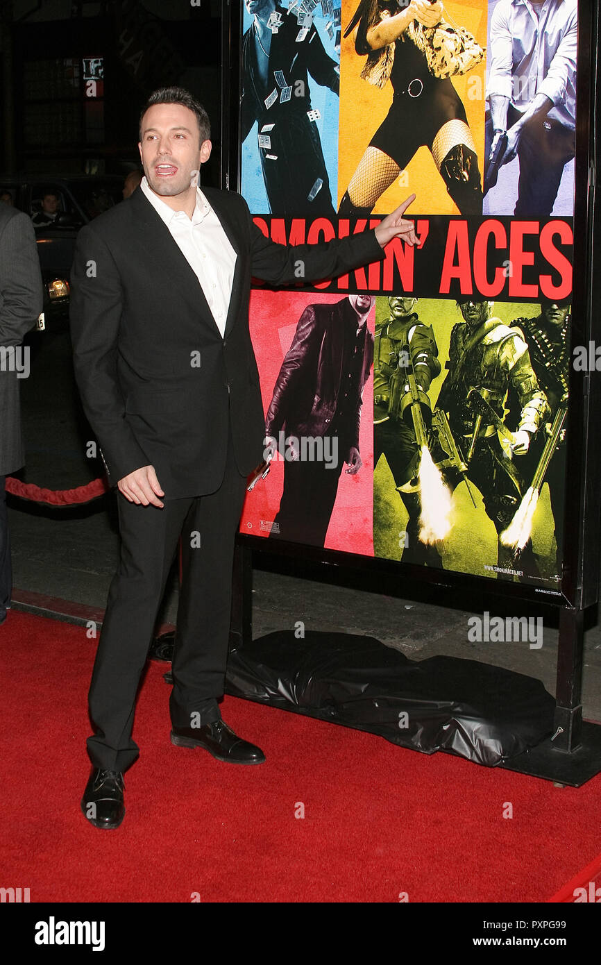 Ben Affleck  01/18/07 SMOKIN' ACES  @  Grauman's Chinese Theatre, Hollywood  photo by Jun Matusda/HNW / PictureLux (January 18, 2007)   File Reference # 33687_077HNWPLX - Stock Image