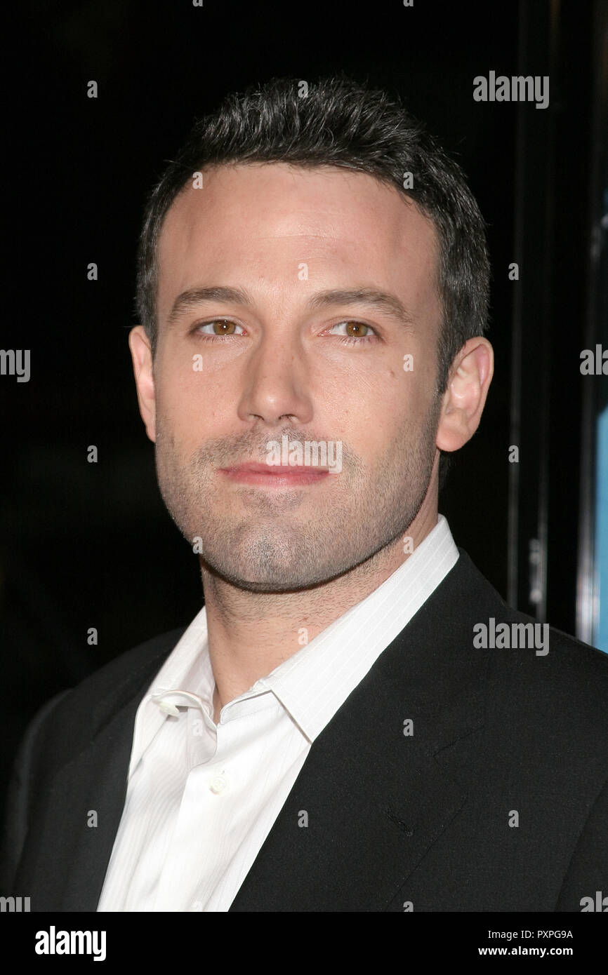 Ben Affleck  01/18/07 SMOKIN' ACES  @  Grauman's Chinese Theatre, Hollywood  photo by Jun Matusda/www.HNW / PictureLux (January 18, 2007)   File Reference # 33687_080HNWPLX - Stock Image