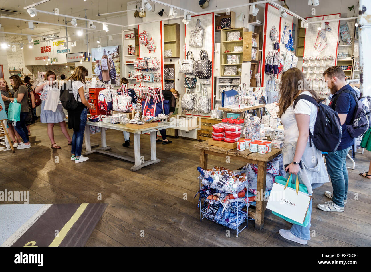 London England United Kingdom Great Britain West End St James's Piccadilly Cath Kidston inside interior shopping flagship store gifts home furnishings - Stock Image