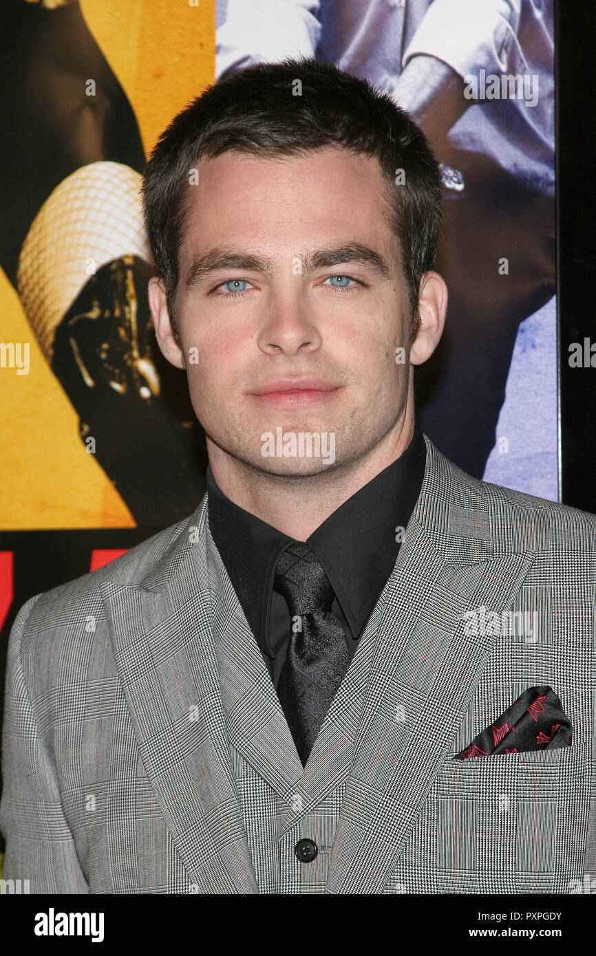 Chris Pine  01/18/07 SMOKIN' ACES  @  Grauman's Chinese Theatre, Hollywood  photo by Jun Matusda/HNW / PictureLux (January 18, 2007)   File Reference # 33687_170HNWPLX - Stock Image