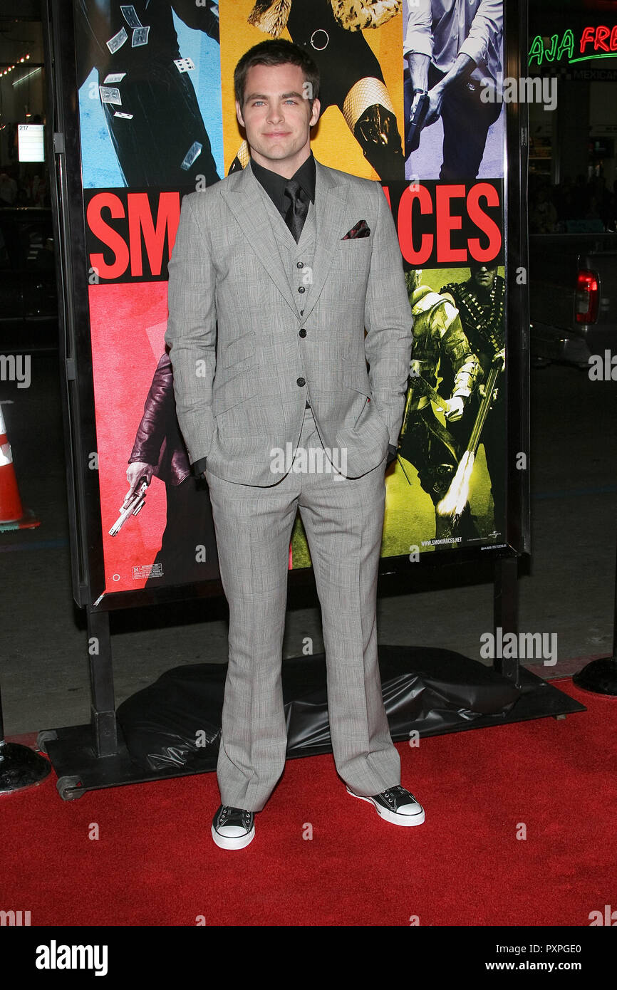 Chris Pine  01/18/07 SMOKIN' ACES  @  Grauman's Chinese Theatre, Hollywood  photo by Jun Matusda/HNW / PictureLux (January 18, 2007)   File Reference # 33687_171HNWPLX - Stock Image