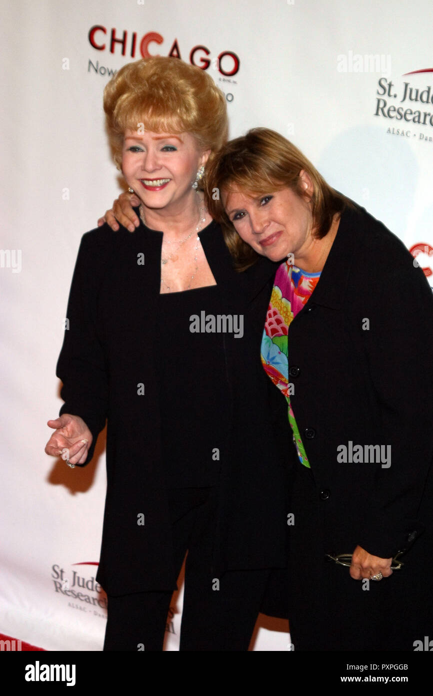 Debbie Reynolds, Carrie Fisher  08/19/03 ST. JUDE RUNWAY FOR LIFE CELEBRITY FASHION SHOW @ Beverly Hilton Hotel, Beverly Hills Photo by Kazumi Nakamoto/HNW / PictureLux (August 19, 2003)   File Reference # 33687_217HNWPLX - Stock Image