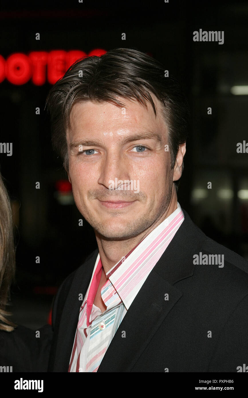 Nathan Fillion  01/18/07 SMOKIN' ACES  @  Grauman's Chinese Theatre, Hollywood  photo by Jun Matusda/HNW / PictureLux (January 18, 2007)   File Reference # 33687_541HNWPLX - Stock Image
