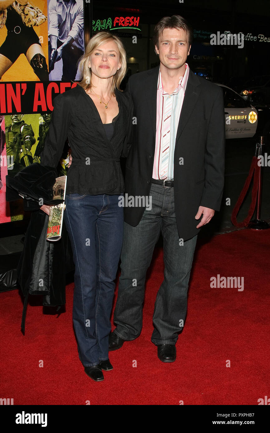 Nathan Fillion  01/18/07 SMOKIN' ACES  @  Grauman's Chinese Theatre, Hollywood  photo by Jun Matusda/HNW / PictureLux (January 18, 2007)   File Reference # 33687_542HNWPLX - Stock Image
