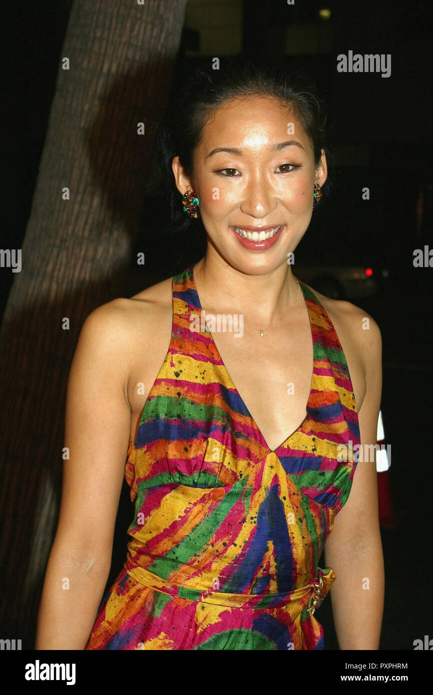 Sandra Oh  10/12/04 SIDEWAYS @ Academy of Motion Picture Arts and Sciences, Beverly Hills photo by Fukuko Kusakari/HNW / PictureLux (October 12, 2004)   File Reference # 33687_683HNWPLX - Stock Image