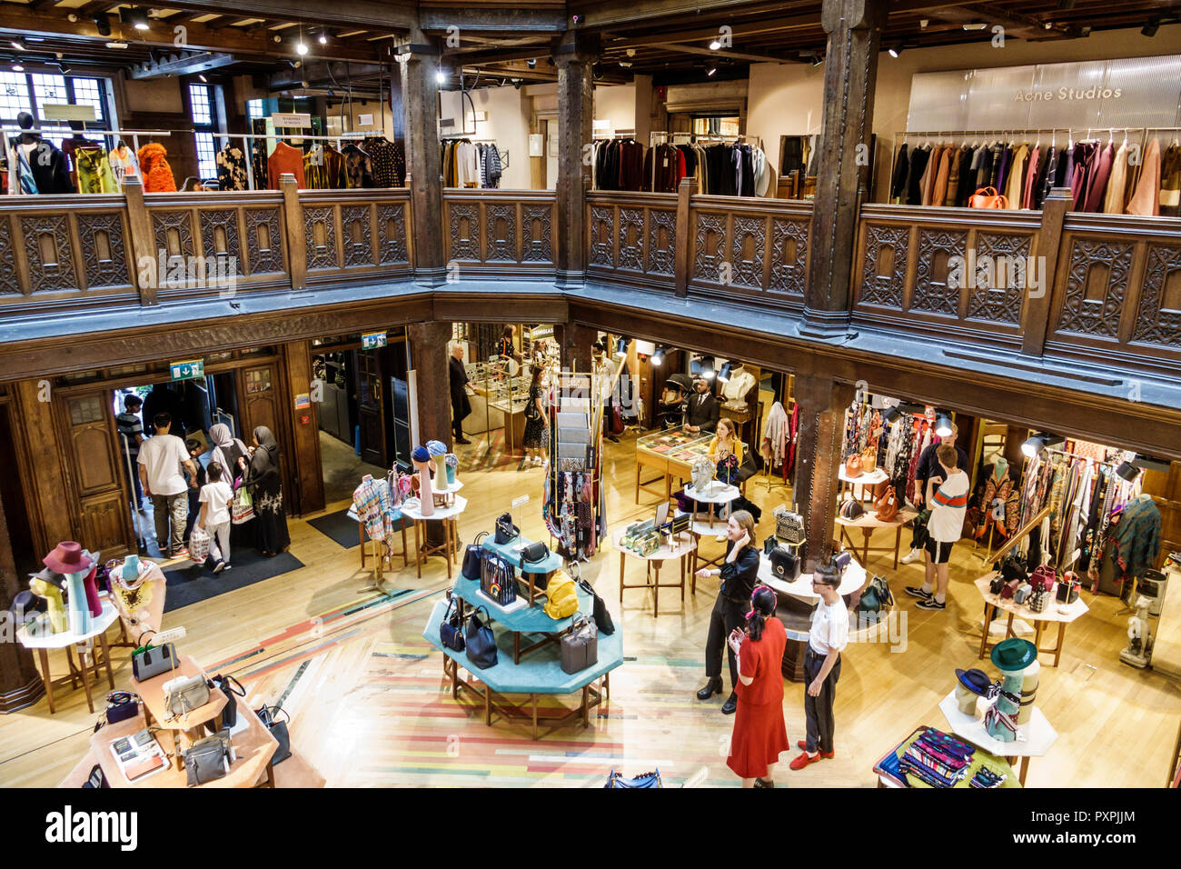 a1118cf276b4 London England United Kingdom Great Britain Soho Liberty Department Store  shopping luxury brands upmarket atrium lightwell