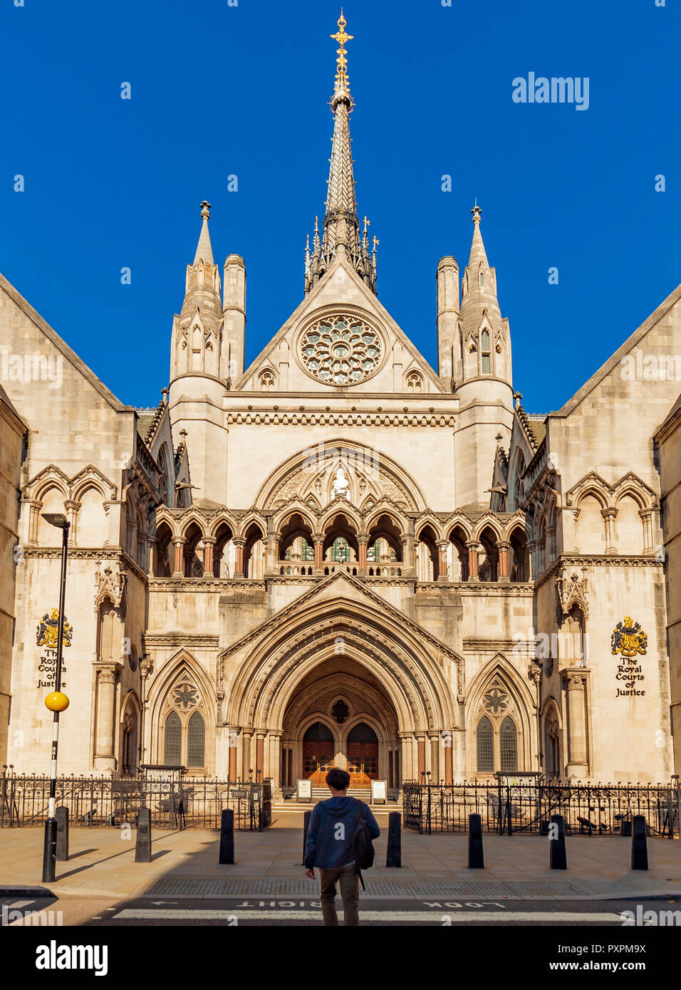 The Royal Courts of Justice London. - Stock Image