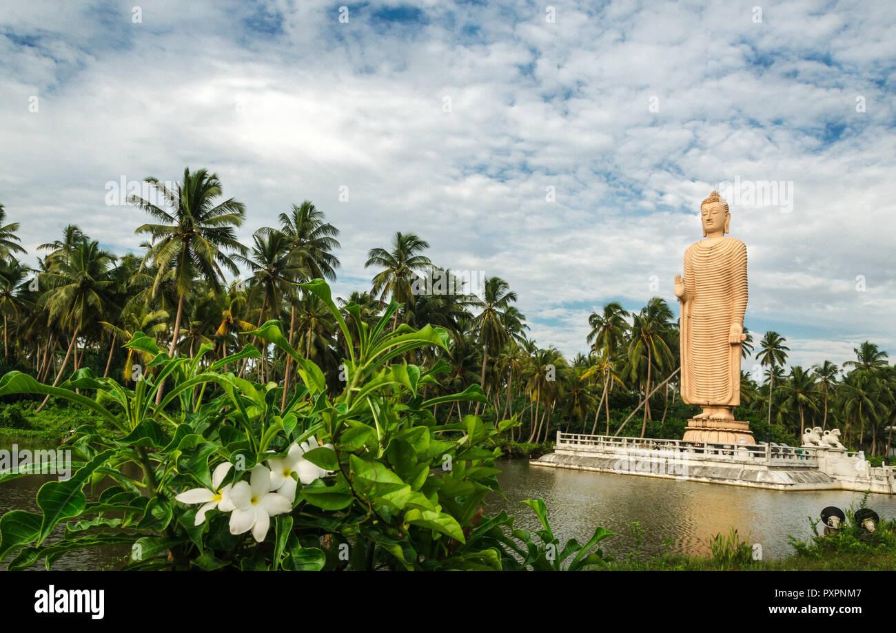 Tsunami Memorial - Peraliya Buddha Statue in Hikkaduwa, Sri Lanka Stock Photo