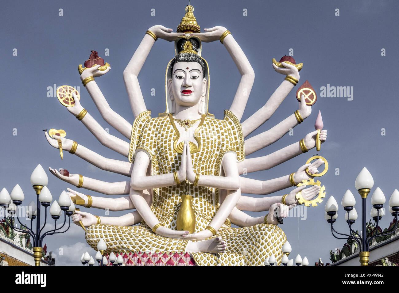 Wat Plai Laem temple Koh Samui, Thailand, Asia Stock Photo