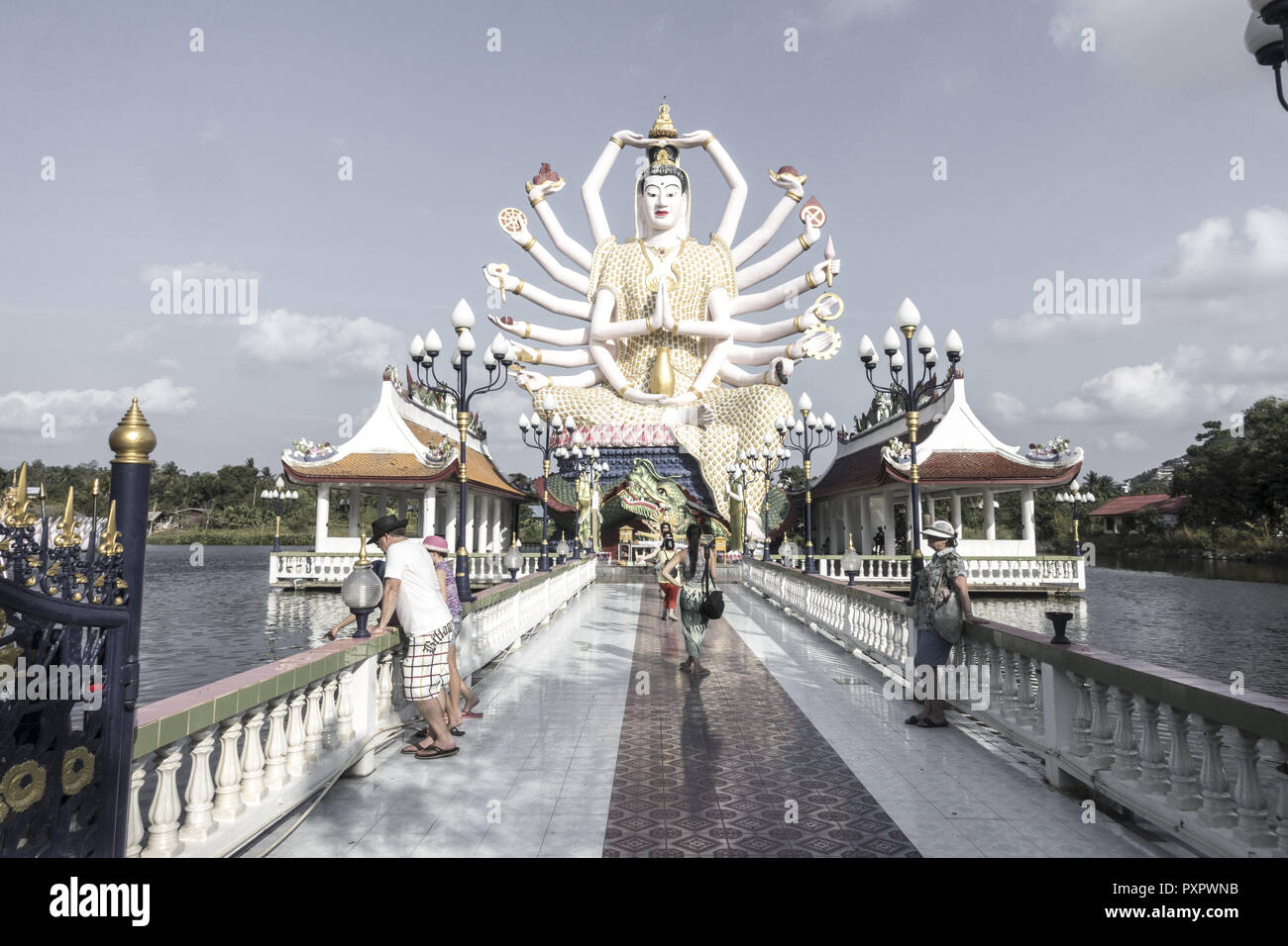 Wat Plai Laem temple Koh Samui, Thailand, Asia Stock Photo