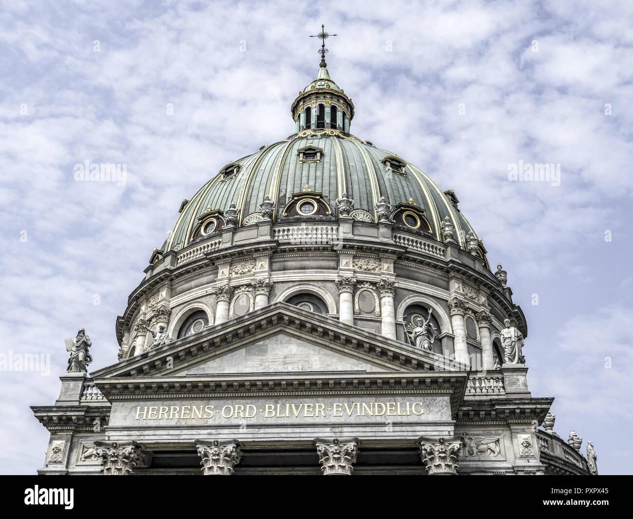 Marmorkirke church, Copenhagen, Denmark, Scandinavia, Europe - Stock Image