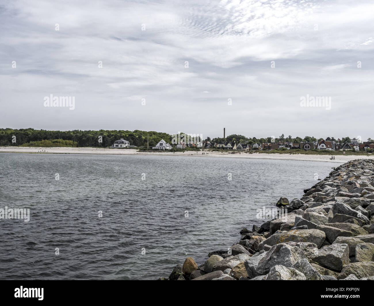 Hornbaek Beach, North Zealand, Denmark, Scandinavia - Stock Image
