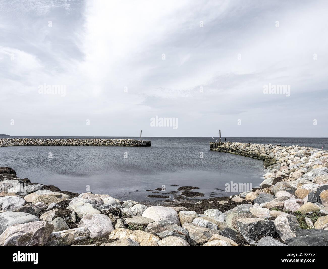 Hornbaek Harbour, North Zealand, Denmark, Scandinavia - Stock Image