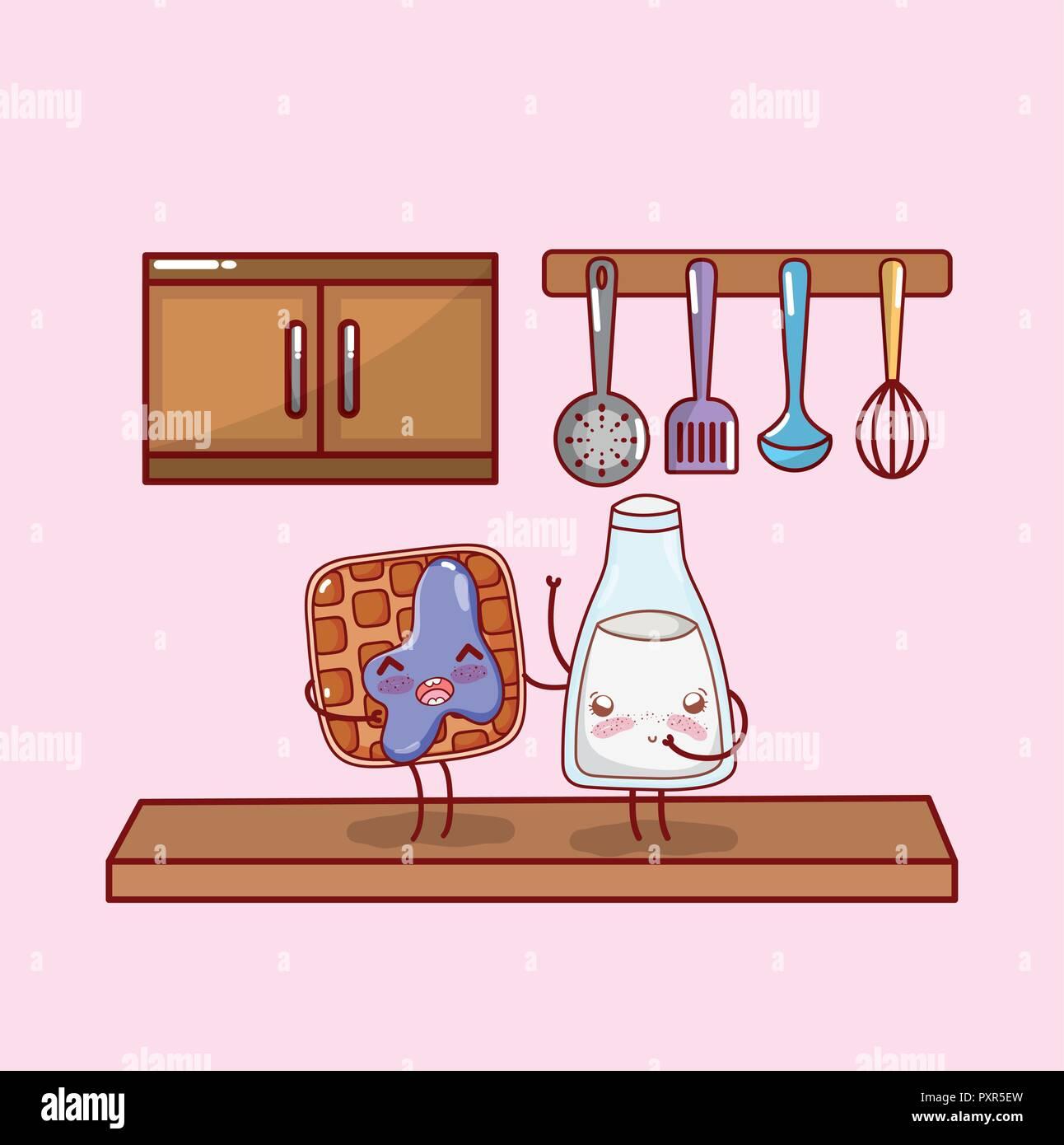 Kitchen Cabinet Cartoon Stock Photos Kitchen Cabinet Cartoon Stock