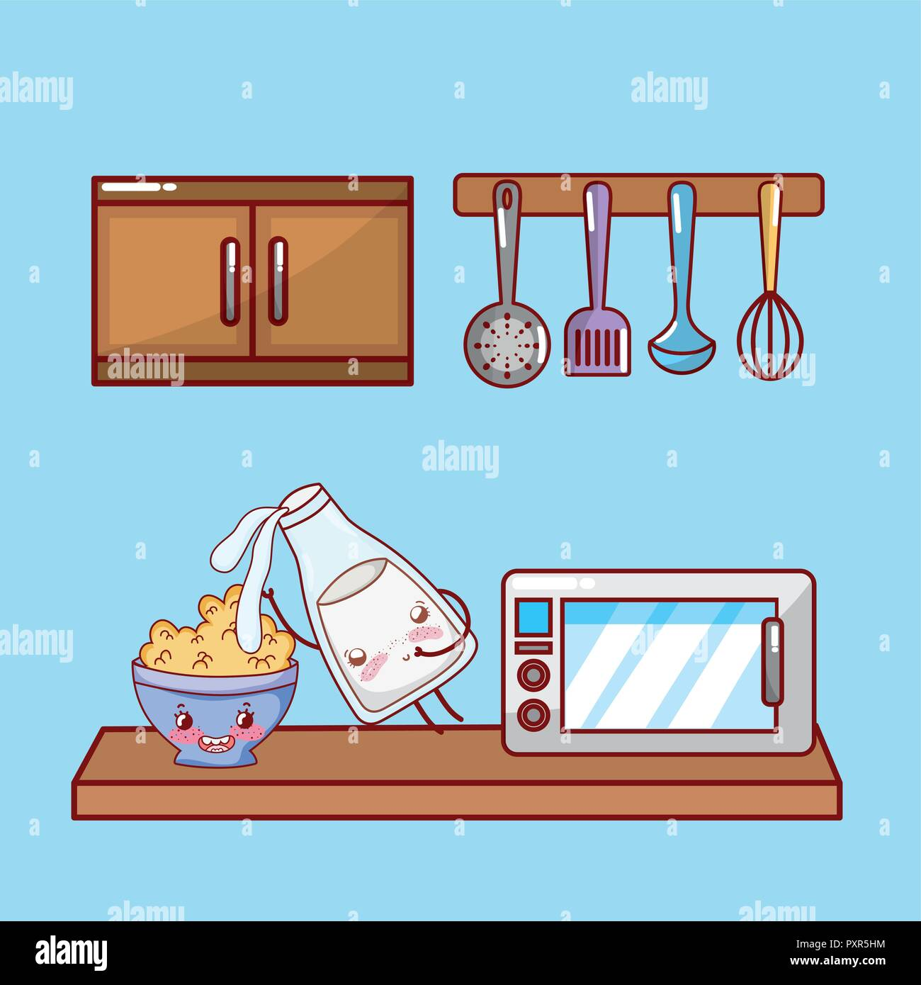 Kitchen Cabinet Cartoon High Resolution Stock Photography And Images Alamy