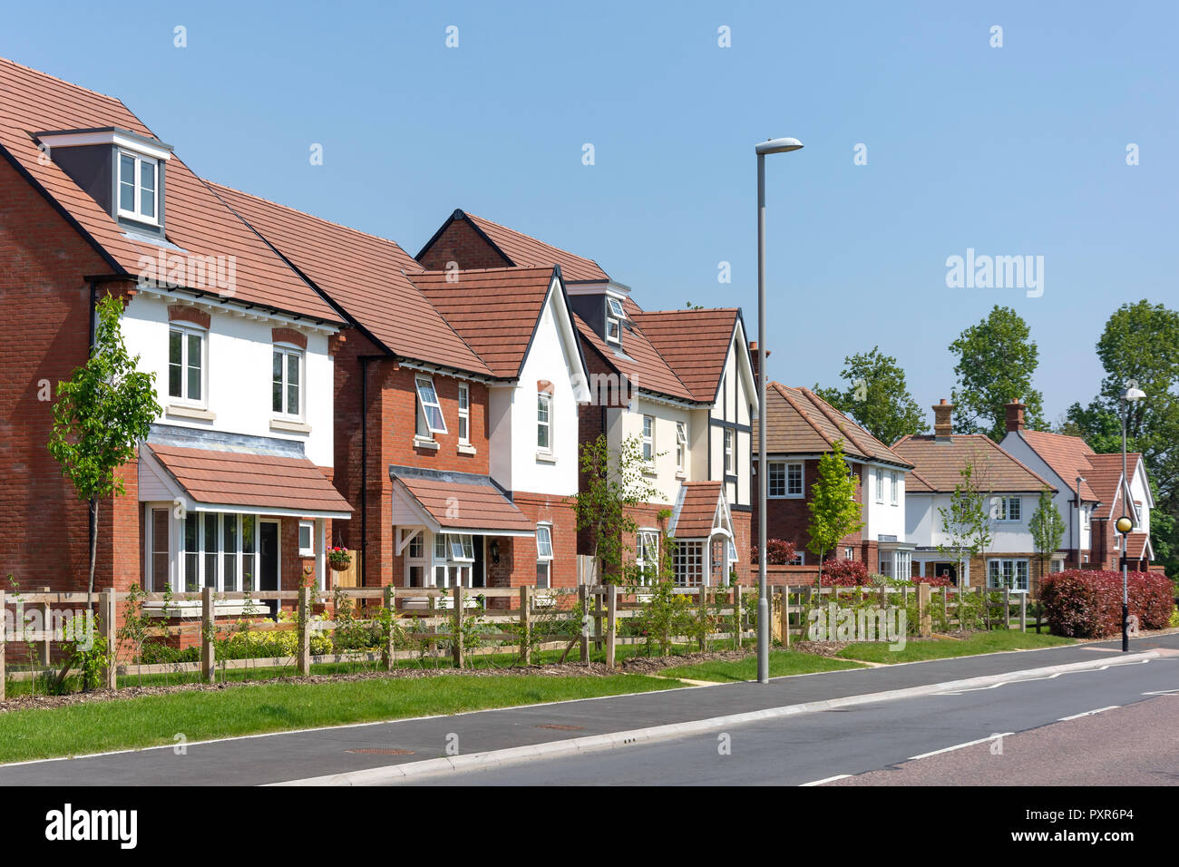 Westgate housing development, Worgret Road, Wareham, Dorset, England, United Kingdom - Stock Image