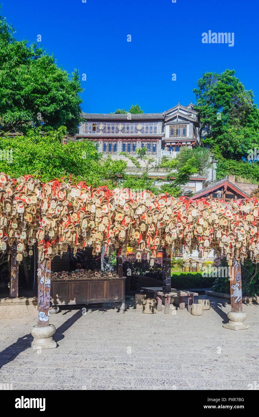 China, Yunnan, Lijiang, old town - Stock Image