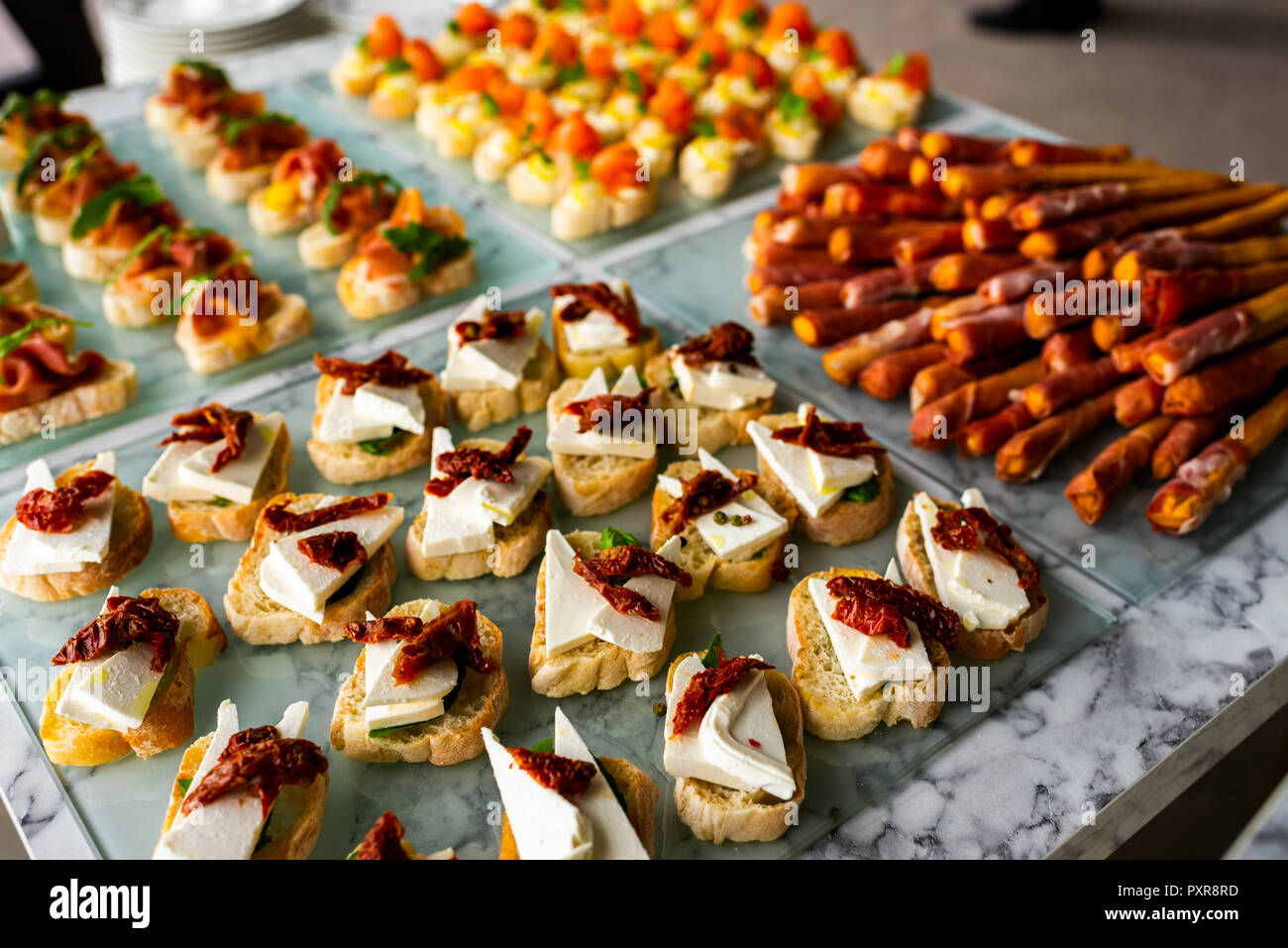 cold snacks for guests - Stock Image