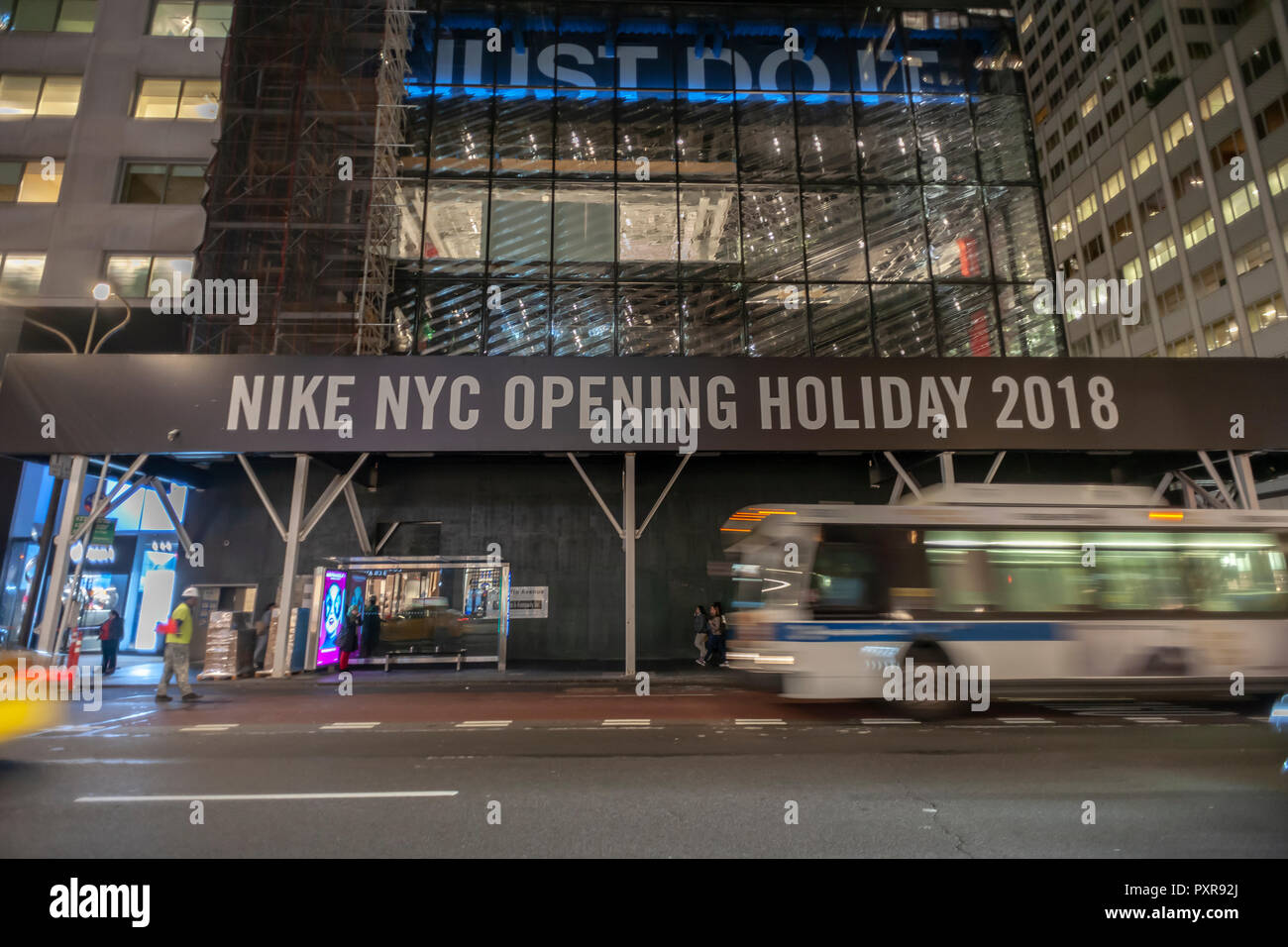 64b4aaff6b476 Construction on the new Nike flagship store on Fifth avenue in New York on  Tuesday