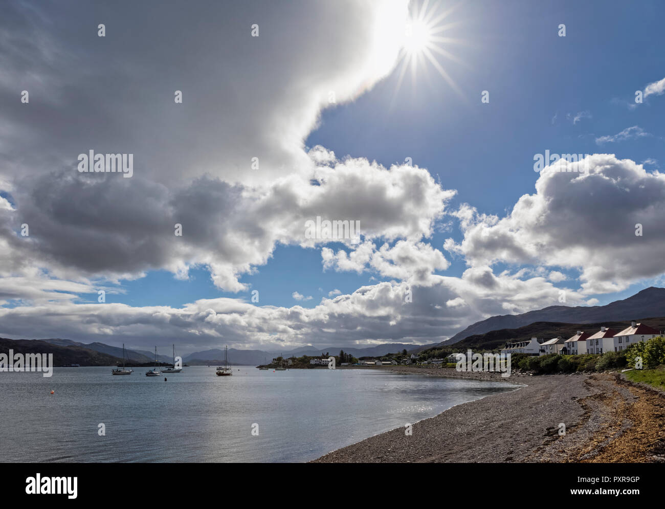 UK, Scotland, Inner Hebrides, Isle of Skye, Kyle Akin, Kyleakin - Stock Image
