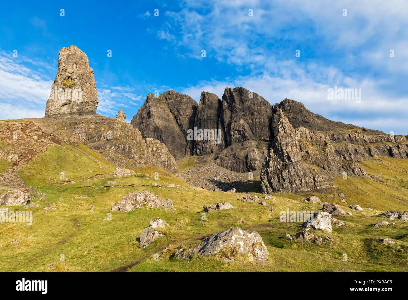 UK, Scotland, Inner Hebrides, Isle of Skye, Trotternish, The Storr - Stock Image