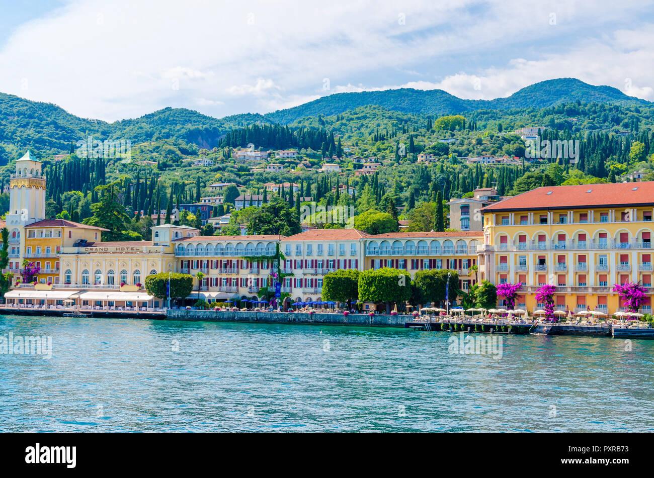 Italy, Lombardy, Gardone Riviera, Lake Garda, Grandhotel Stock Photo