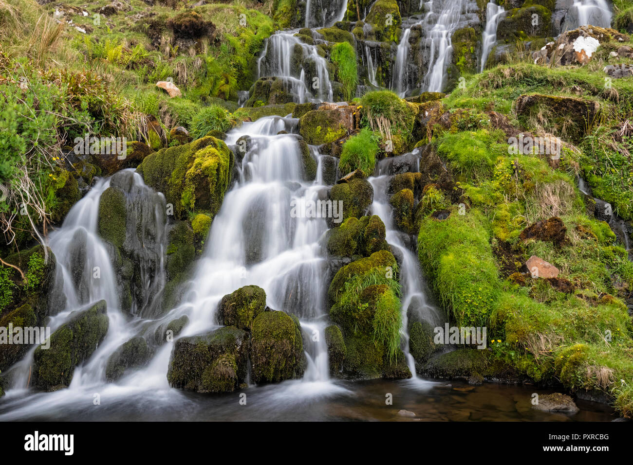 UK, Scotland, Inner Hebrides, Isle of Skye, Brides Veil Waterfall - Stock Image