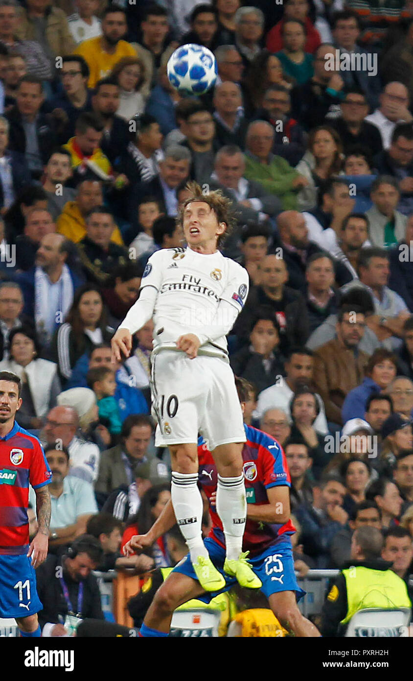 49e19e2f738 Soccer match between Real Madrid and Viktoria Plzen, of the Champions  League 2018/2019, held at the Santiago Bernabeu stadium, in Madrid.